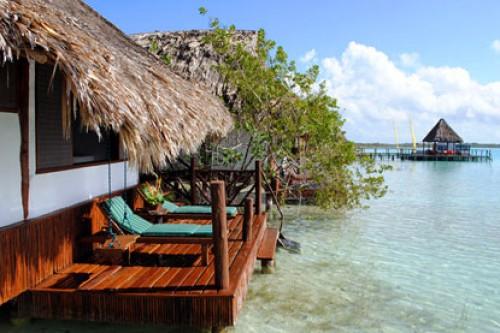 Caba a laguna 3 personas habitaciones akal ki centro for Cabanas sobre el mar en mexico