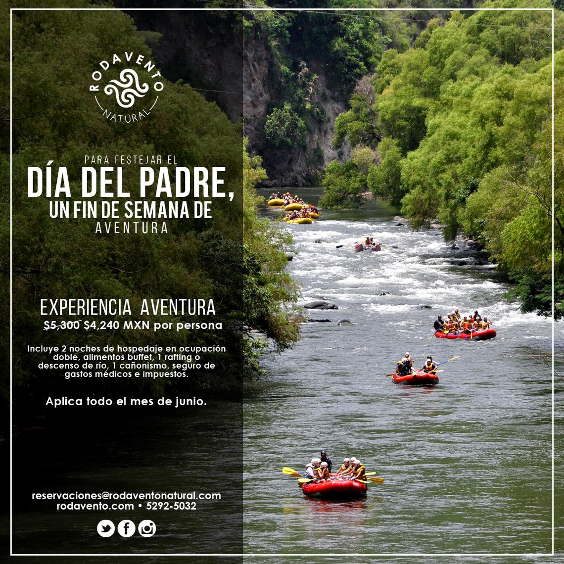 Rafting, actividades con niños, día del padre